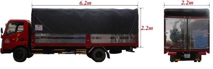 xe tải 2 tấn dài 6m